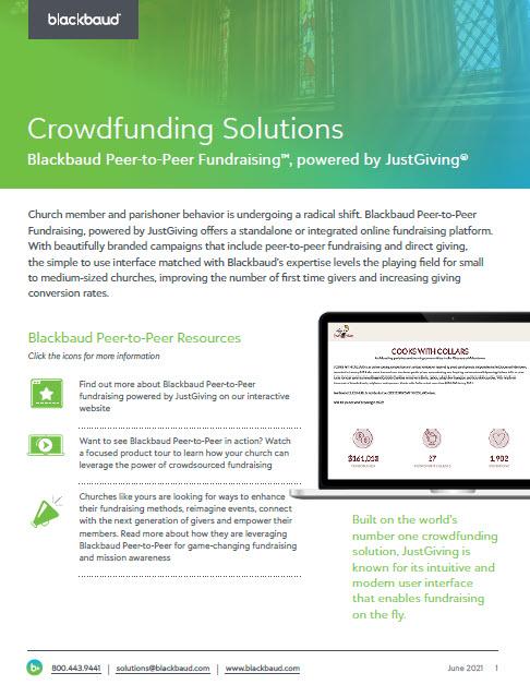 Blackbaud Peer-to-Peer Fundraising