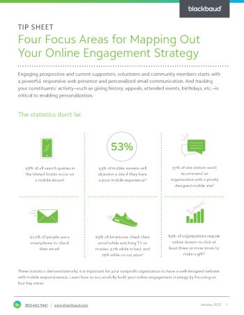 Tip sheet image of Map Out Your Online Engagement Strategy