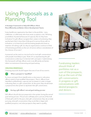 image of whitepaper Using Proposals as a Planning Tool